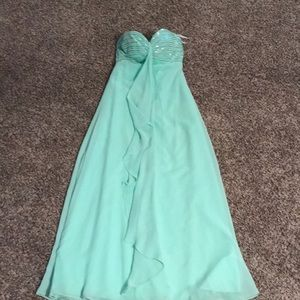 Long Mint color dress